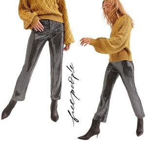 Free People Shine On Sequin Pants